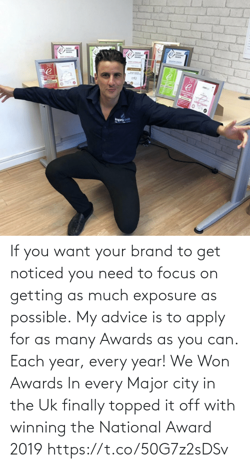 major: If you want your brand to get noticed you need to focus on getting as much exposure as possible.  My advice is to apply for as many Awards as you can. Each year, every year!  We Won Awards In every Major city in the Uk finally topped it off with winning the National Award 2019 https://t.co/50G7z2sDSv