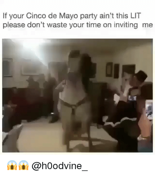 dont waste your time: If your Cinco de Mayo party ain't this LIT  please don't waste your time on inviting me 😱😱 @h0odvine_