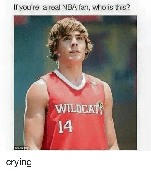 nba-fan: If you're a real NBA fan, who is this?  WILDCAT  14 crying