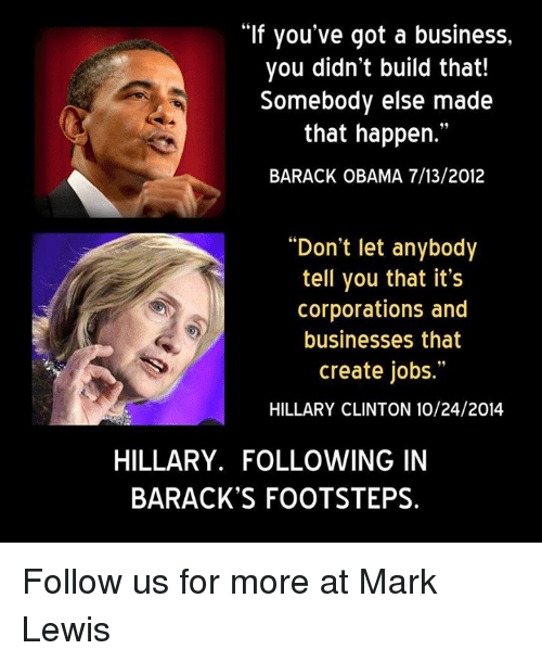 business more jobs obama clinton loyalists