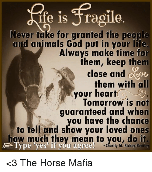 Taken For Granted Meme: Ife Is Aragile Never Take For Granted The People And