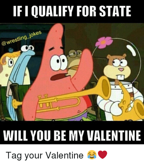 be my valentine: IFI QUALIFY FOR STATE  @wrestling jokes  WILL YOU BE MY VALENTINE Tag your Valentine 😂❤️