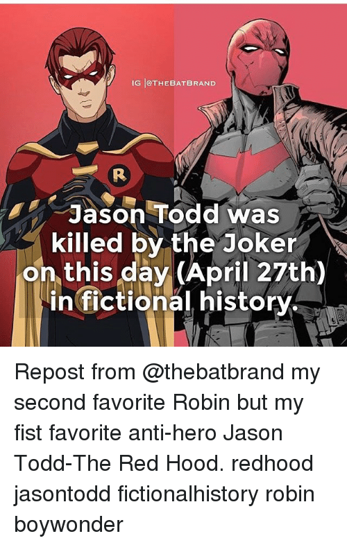 Funny Jason Todd Memes Of 2017 On SIZZLE
