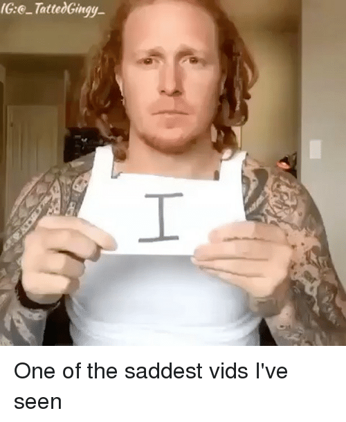 Memes, 🤖, and One: IG:@-TattedGirtyy  I One of the saddest vids I've seen