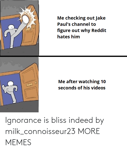 Indeed: Ignorance is bliss indeed by milk_connoisseur23 MORE MEMES