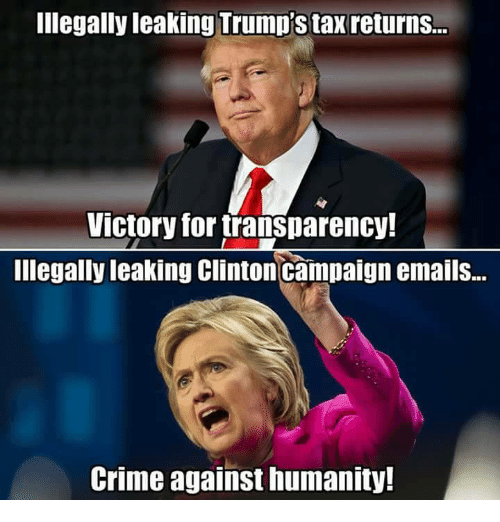 Illegally Leaking Trump's Tax Returns Victory For