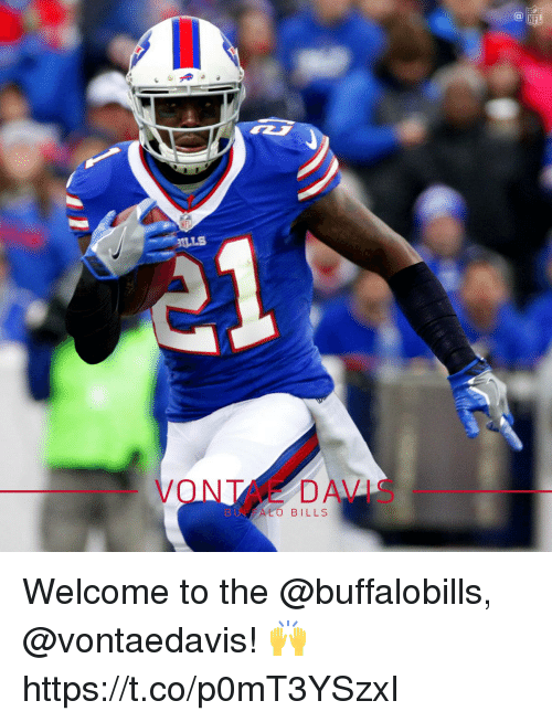 Memes, Bills, and 🤖: ILLS  VONTANE DAVIS  ALO BILLS Welcome to the @buffalobills, @vontaedavis! 🙌 https://t.co/p0mT3YSzxI