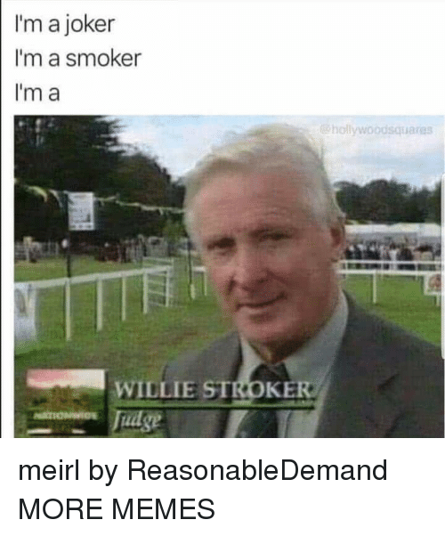 willie: I'm a joker  I'm a smoker  Im a  hollywoodsquares  WILLIE STROKE meirl by ReasonableDemand MORE MEMES