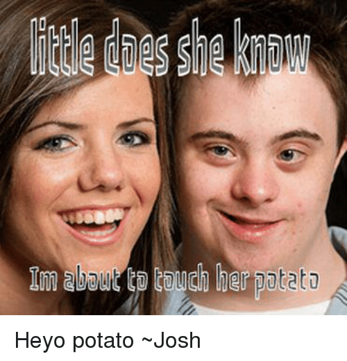 Potato, Touche, and Dank Memes: Im abol. touch her potato Heyo potato