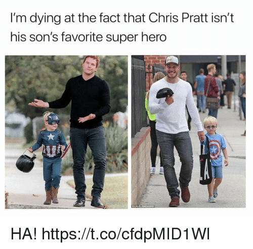 "Bailey Jay, Chris Pratt, and Funny: I'm dying at the fact that Chris Pratt isn'""t  his son's favorite super hero  200  LALO BACKGRiD HA! https://t.co/cfdpMID1Wl"