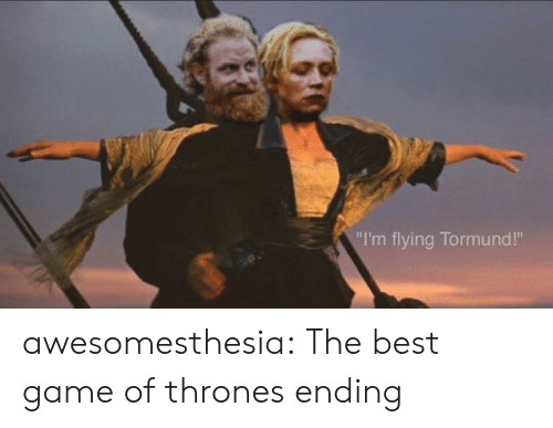 "im flying: ""I'm flying Tormund!"" awesomesthesia:  The best game of thrones ending"