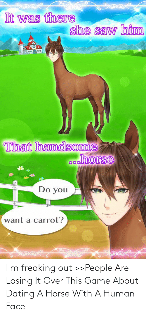 Horse: I'm freaking out >>People Are Losing It Over This Game About Dating A Horse With A Human Face