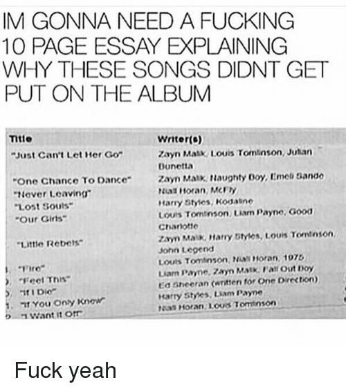 im gonna need a fucking page essay explaining why these songs  fucking john legend and memes im gonna need a fucking 10 page essay