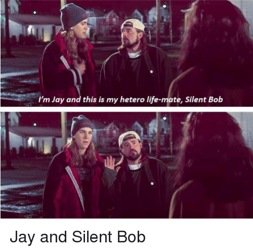 jay and silent bob: I'm Jay and this is my hetero life-mate, Silent Boib Jay and Silent Bob