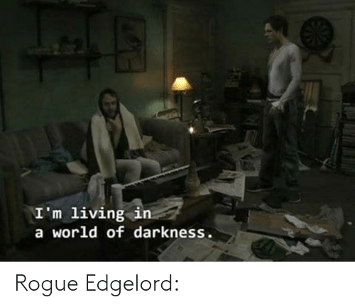 world of darkness: \I'm living in  a world of darkness. Rogue Edgelord: