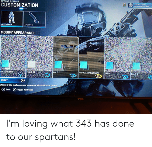 spartans: I'm loving what 343 has done to our spartans!