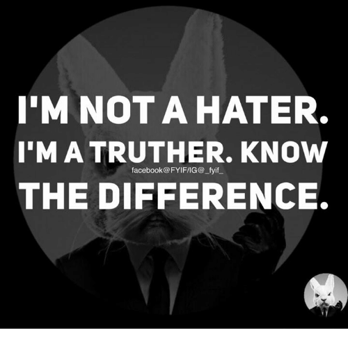 Dank, Facebook, and 🤖: I'M NOT A HATER.  IMATRUTHER. KNOW  facebook@FYIFIIG@ fyif  THE DIFFERENCE.