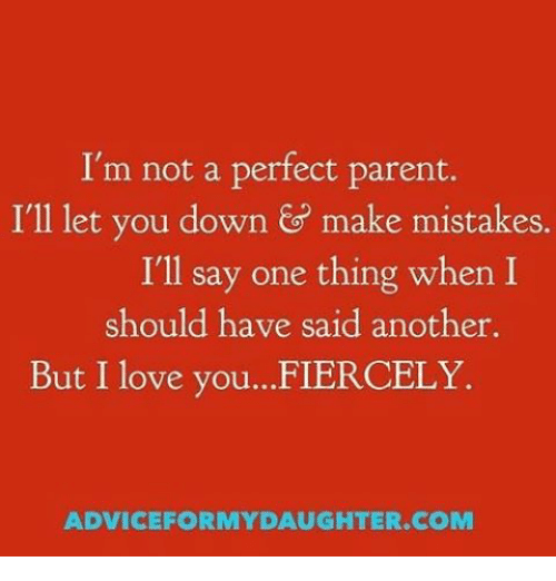 Im Not A Perfect Parent Ill Let You Down G Make Mistakes Ill Say