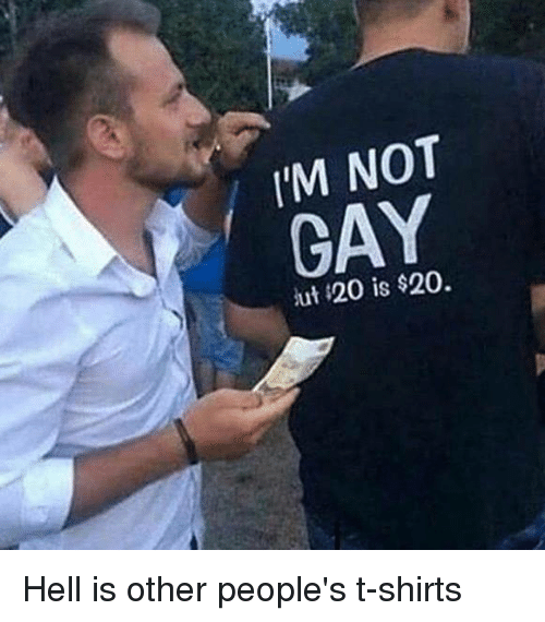 I'm not gay, but