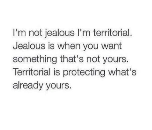 Jealous, Relationships, and Ims: I'm not jealous l'm territorial