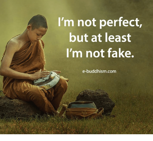 Buddhism: I'm not perfect  but at least  I'm not fake.  e-buddhism.com