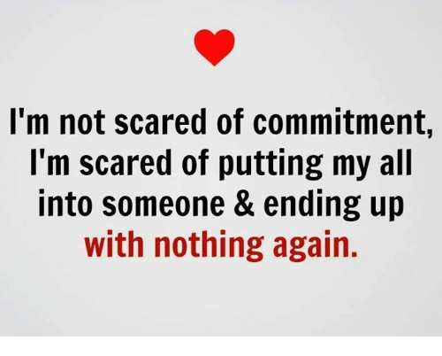 Dating someone afraid of commitment