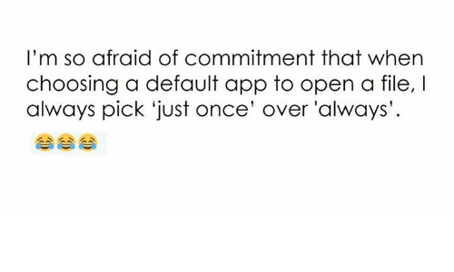 Why Am I So Afraid Of Commitment