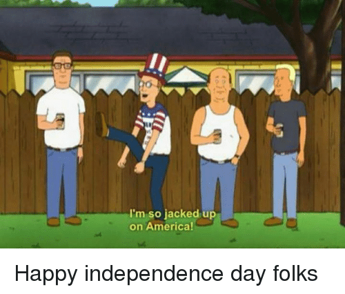 America, Independence Day, and Memes: I'm so jacked up  on America Happy independence day folks