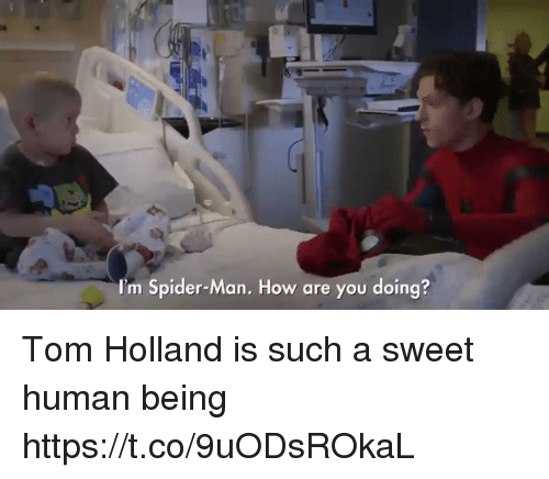 tom hollander: I'm Spider-Man. How are you doing? Tom Holland is such a sweet human being  https://t.co/9uODsROkaL