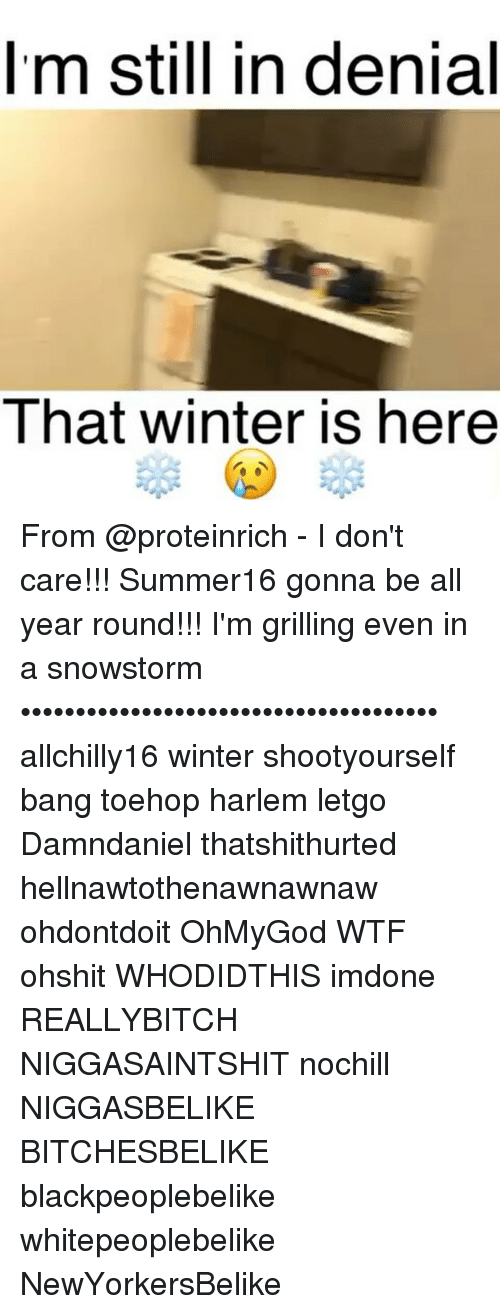 memes: Im still in denial  I hat winter is here From @proteinrich - I don't care!!! Summer16 gonna be all year round!!! I'm grilling even in a snowstorm •••••••••••••••••••••••••••••••••••••• allchilly16 winter shootyourself bang toehop harlem letgo Damndaniel thatshithurted hellnawtothenawnawnaw ohdontdoit OhMyGod WTF ohshit WHODIDTHIS imdone REALLYBITCH NIGGASAINTSHIT nochill NIGGASBELIKE BITCHESBELIKE blackpeoplebelike whitepeoplebelike NewYorkersBelike