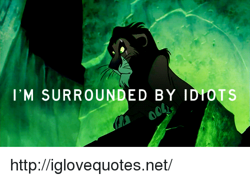 im surrounded by idiots: I'M SURROUNDED BY IDIOTS http://iglovequotes.net/