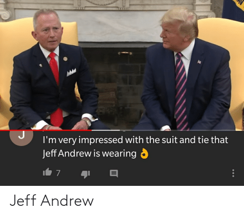 suit and tie: I'm very impressed with the suit and tie that  Jeff Andrew is wearing  It 7 Jeff Andrew