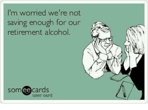 Carding: I'm worried we're not  saving enough for our  retirement alcohol  somee cards  uger card