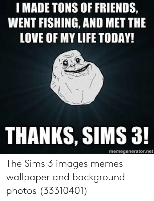 Sims 3 Images: IMADE TONS OF FRIENDS,  WENT FISHING, AND MET THE  LOVE OF MY LIFE TODAY!  THANKS, SIMS 3!  memegenerator.net The Sims 3 images memes wallpaper and background photos (33310401)