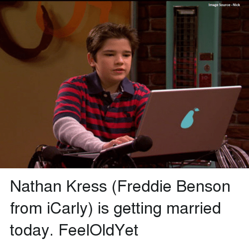 nathan kress: Image Source-Nick Nathan Kress (Freddie Benson from iCarly) is getting married today. FeelOldYet