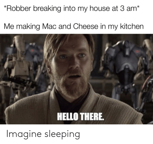 Sleeping: Imagine sleeping