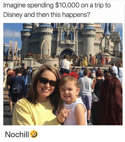tripped: Imagine spending $10,000 on a trip to  Disney and then this happens? Nochill🤣