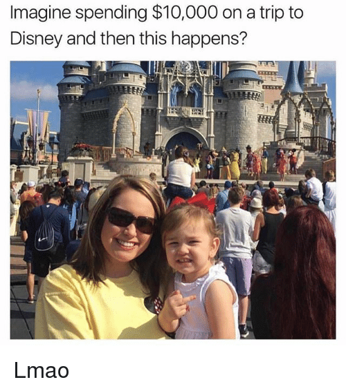 tripped: Imagine spending $10,000 on a trip to  Disney and then this happens? Lmao
