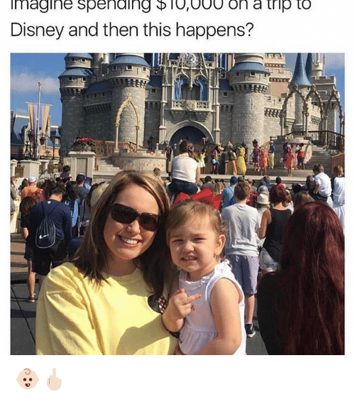 tripped: Imagine spending D l0,000 on a trip to  Disney and then this happens? 👶🏻🖕🏻