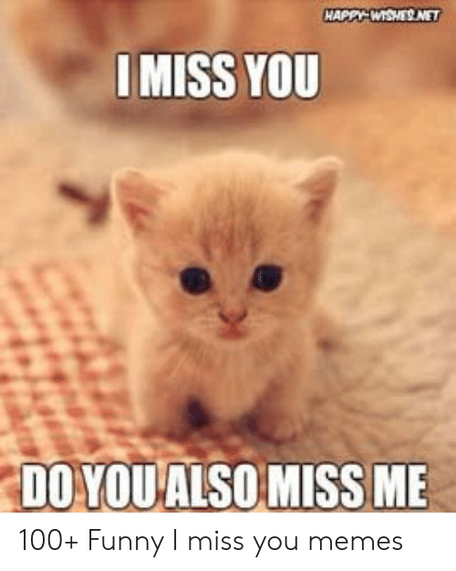 i miss you meme: IMISS YOU  DO YQUALSOMISS ME 100+ Funny I miss you memes