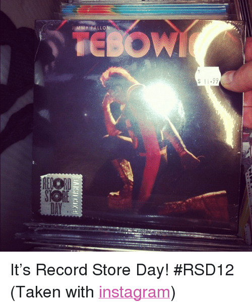 """record store: IMMY FALLO  s 11.99  DAY <p>It&rsquo;s Record Store Day! #RSD12 (Taken with <a href=""""http://instagr.am"""" target=""""_blank"""">instagram</a>)</p>"""