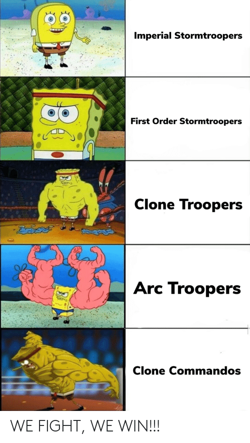 imperial: Imperial Stormtroopers  First Order Stormtroopers  Clone Troopers  ఔవిదత్  Arc Troopers  Clone Commandos WE FIGHT, WE WIN!!!