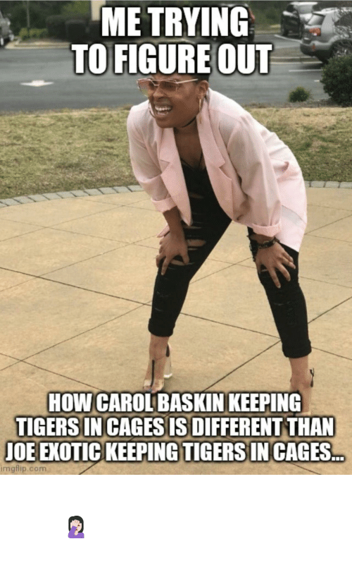 Of The Day: Important question of the day 🤦🏻♀️ #TigerKing #CaroleBaskin #JoeExotic