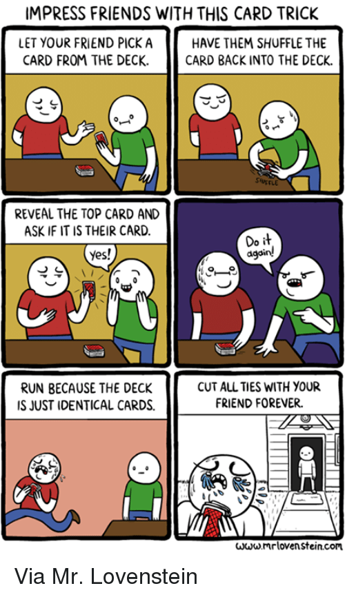 how to do the change card trick