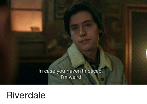 Memes, Weird, and 🤖: In case you haven't noticed  I'm weird Riverdale