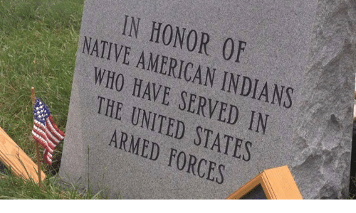 Native American: IN HONOR 0F  NATIVE AMERICAN INDIANS  WHO HAVE SERVED IN  THE UNITED STATES  ARMED FORCES