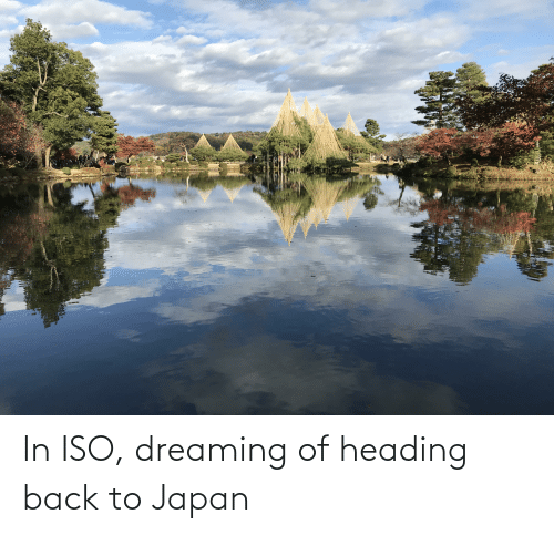 dreaming: In ISO, dreaming of heading back to Japan