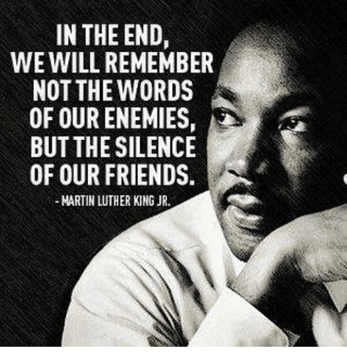 martin luther king quote response