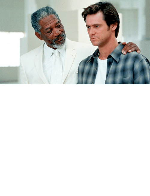 Morgan Freeman: In the movie Bruce Almighty (2003) God appears in the form of Morgan Freeman but the movie Dogma (1999), which came out four years earlier, had already established that god looks like Alanis Morissette.