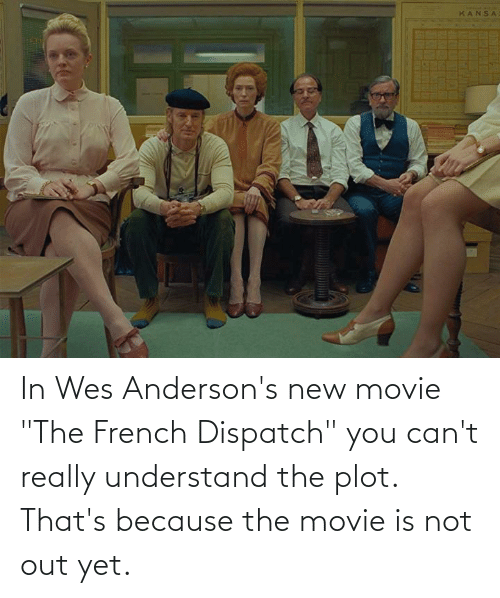 """Wes: In Wes Anderson's new movie """"The French Dispatch"""" you can't really understand the plot. That's because the movie is not out yet."""